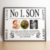 No 1 Son Personalised Photo Gift Fathers Day Gifts