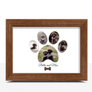 Personalised Pet Dog Paw Photo Print Animal Prints