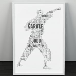Martial Arts Word art Print Sport