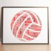 Personalised Netball Word Art – Netball Player Gift Sport