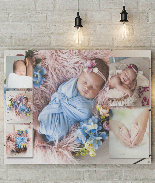 6 Photo Collage Canvas Print Photo Gifts