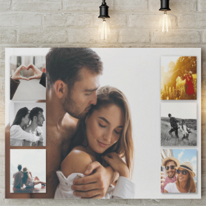 7 Photo Collage Canvas Print Family