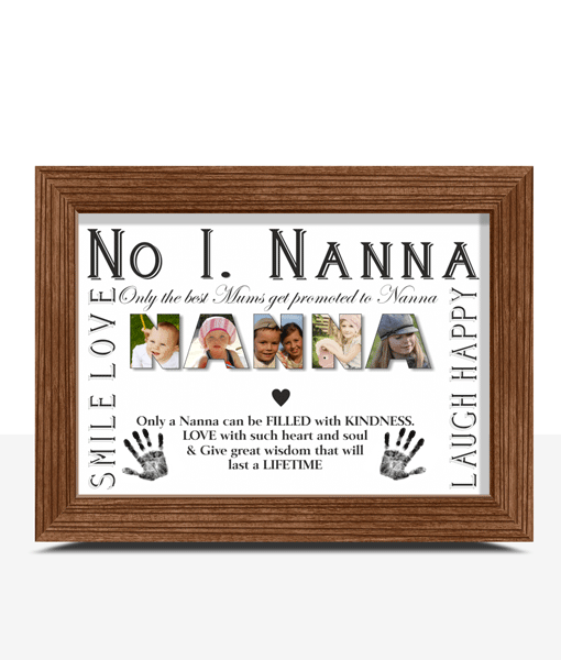 No 1 NANNA Personalised Photo Gift Gifts For Grandparents