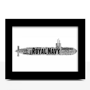 Personalised Royal Navy Submarine Word Art Military Gifts