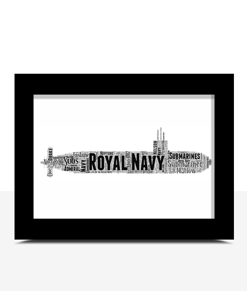 Personalised Royal Navy Submarine Word Art