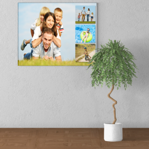 4 Photo Collage Canvas Print Gifts For Her