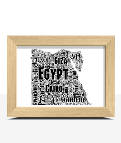 Personalised Egypt Word Art Map Travel