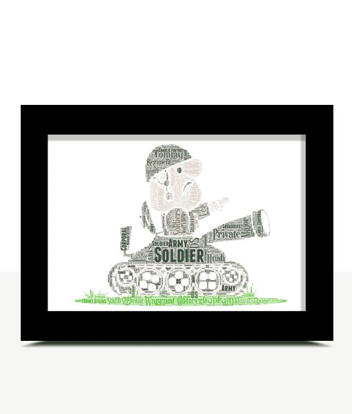 Army Tank Crewman Word Art Personalised Gift