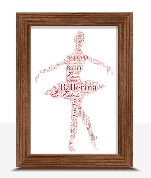 Personalised Ballerina – Ballet Word Art Gift Dance