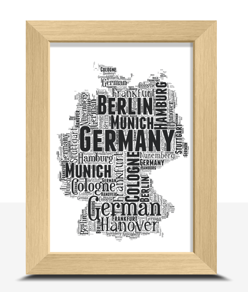 Personalised Germany Word Art Map Travel
