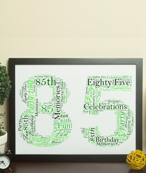 85th Birthday – Anniversary Word Art Gift Anniversary Gifts