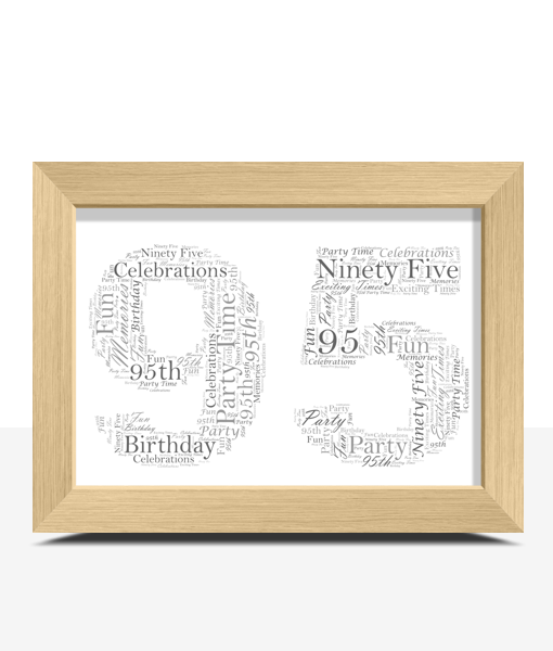 95th Birthday – Anniversary Word Art Gift Anniversary Gifts