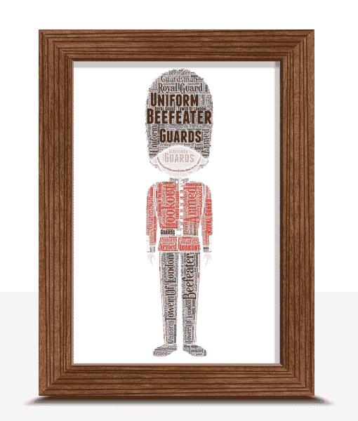 Beefeater Word Art Print