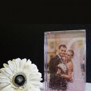 Wedding Confetti Photo Blocks Engagement Gifts