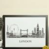 Personalised London Skyline Word Art Travel