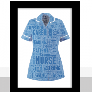 Nurse Uniform Word Art Print Graduation Gifts