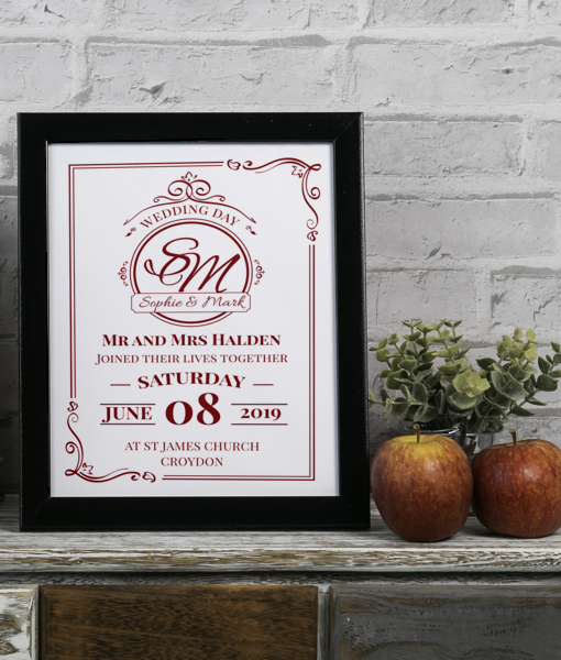 Personalised Wedding Day Gift Gifts For Couples