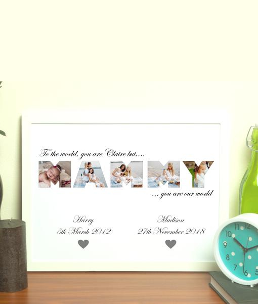MAMMY Photo Word Art Gift Gifts For Her