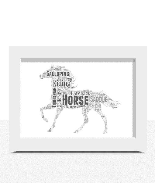 Personalised Horse Word Art Print Animal Prints