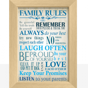 Family Rules Art Print Family
