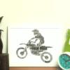 Motocross Bike Word Art Gift Sport