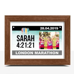 Personalised Runner Gift – Race Bib Keepsake Print Gifts For Her