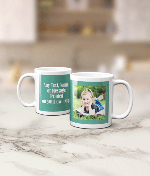 Photo Mug With Personalised Message Anniversary Gifts