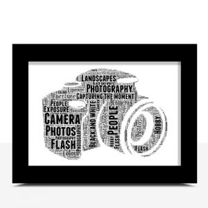 Camera Word Art – Personalised Photographer Gift