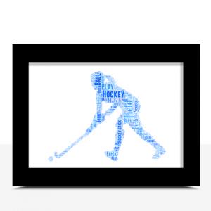 Female Hockey Player Word Art Gift Sport