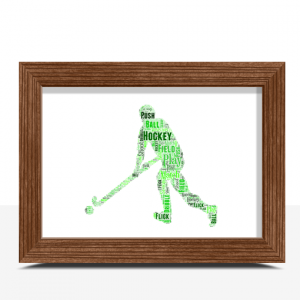 Male Hockey Player Word Art Gift Sport