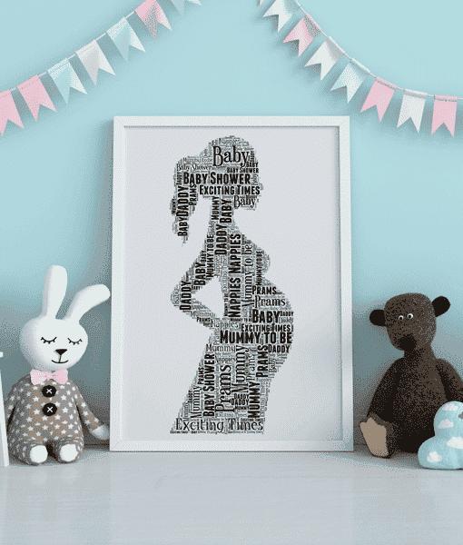 Mum To Be Word Art Gift Baby Shower Gifts