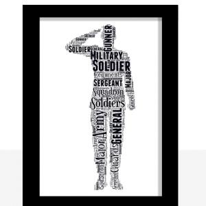 Personalised Soldier Word Art Gift