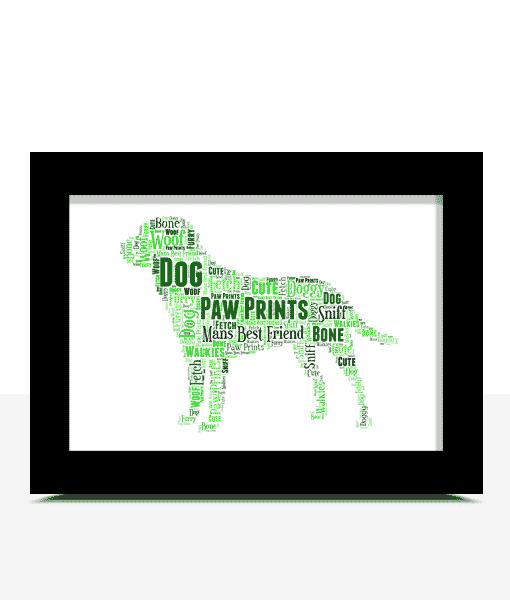 Personalised Dog Word Art Print Animal Prints