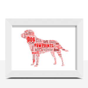 Personalised Dog Word Art Print Animal Prints