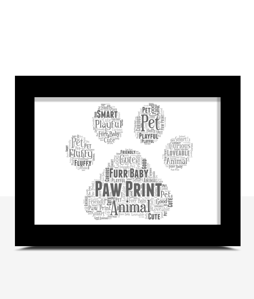 Personalised Animal Paw Print Word Art Animal Prints