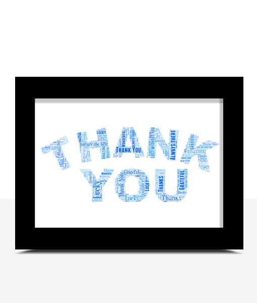 Personalised THANK YOU Word Art Gift Thank You Gifts