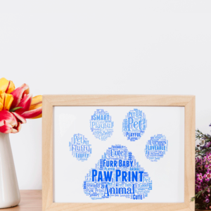Personalised Animal Paw Print Word Art Animal Prints