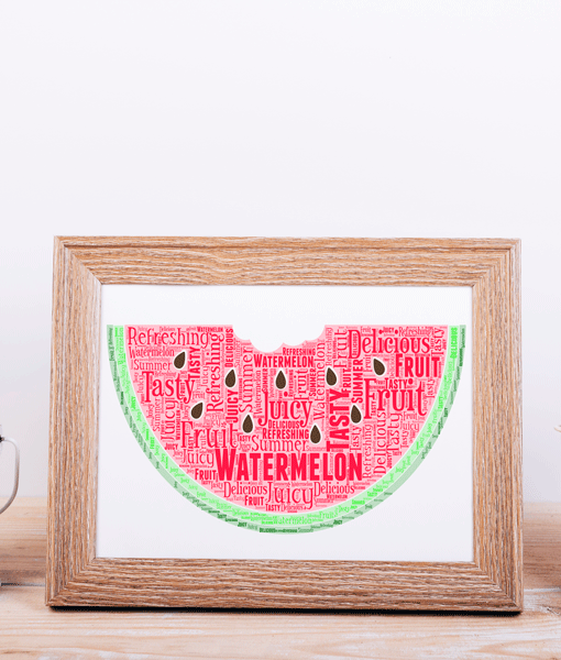 Watermelon Word Art Food And Drink