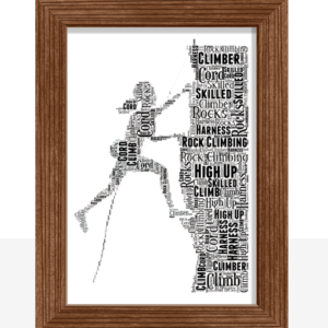 Female Rock Climber Word Art Gift Sport
