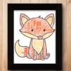 Personalised Fox Word Art Animal Prints