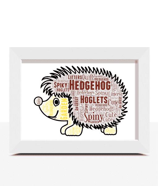 Hedgehog Word Art Animal Prints