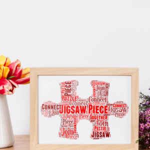 Jigsaw Puzzle Piece Word Art Gifts For Children