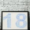 18th Birthday Word Art Gift Birthday Gifts