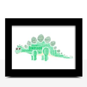 Personalised Dinosaur Word Art Animal Prints