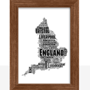 Personalised England Word Art Travel