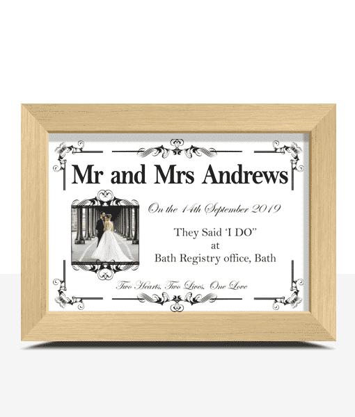 First Year Wedding Anniversary Paper Gift Anniversary Gifts