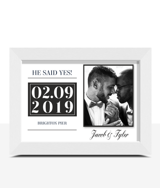 """""""He Said Yes!"""" Personalised Engagement Gift Engagement Gifts"""