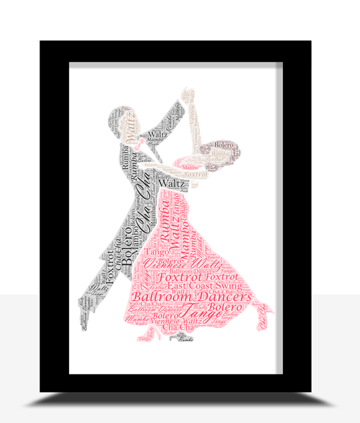 Ballroom Dancers Gift  – Dancing Couple Word Art Gifts For Couples
