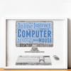 Personalised Computer Word Art Print Gifts For Him