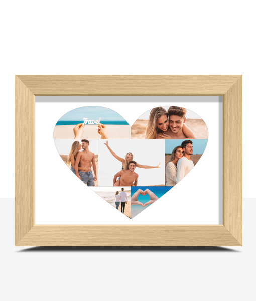 Personalised Love Heart Photo Print Engagement Gifts